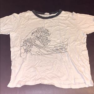 BRANDY MELVILLE SHIRT WITH WAVE DESIGN
